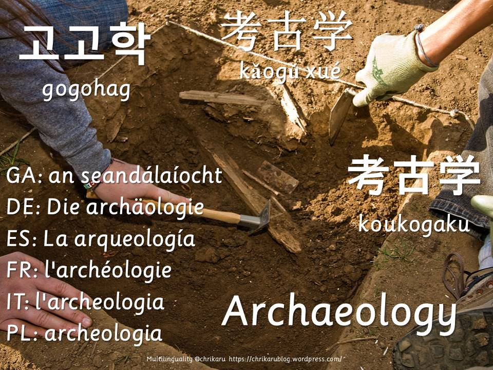 multilingual flashcards archaeology