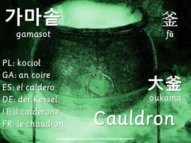 multilingual flashcards cauldron