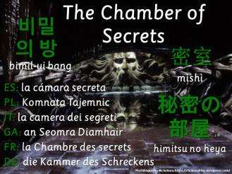 multilingual flashcards chamber of secrets