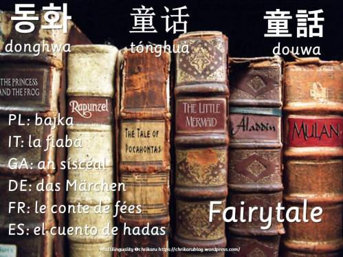 multilingual flashcards fairytale