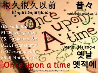 multilingual flashcards once upon a time