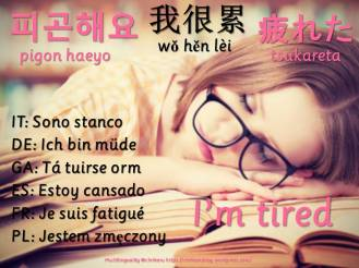 multilingual flashcards tired