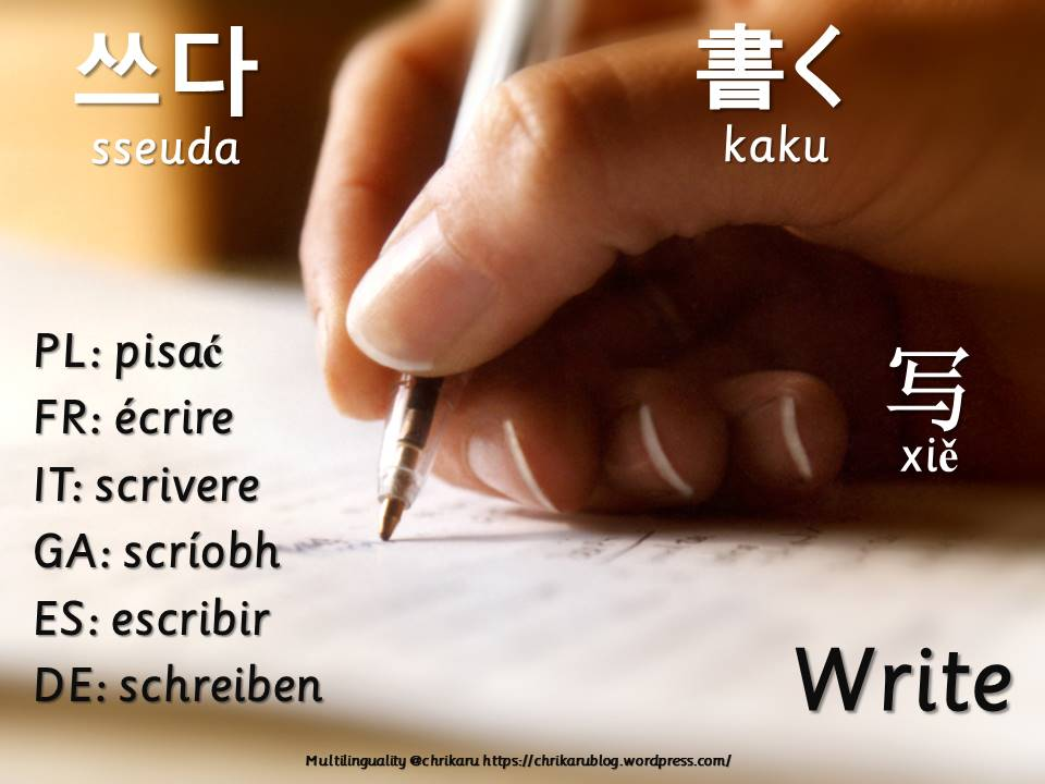multilingual flashcards write