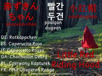 multilingual flashcards little red riding hood