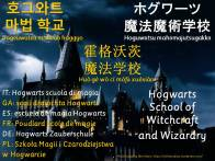 multilingual flashcards updated hogwarts