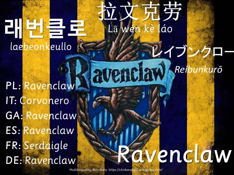 multilingual flashcards updated ravenclaw