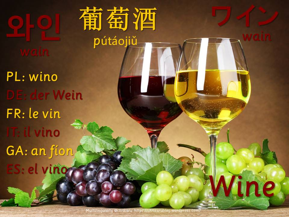 multilingual flashcards updated wine