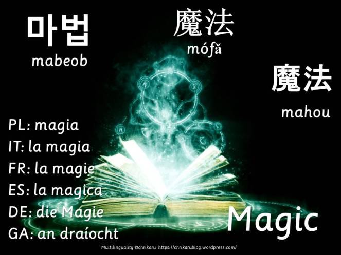 multilingual flashcards magic