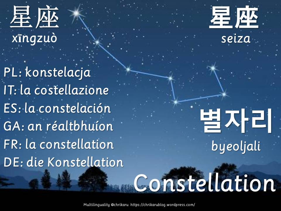 multilingual flashcards constellation