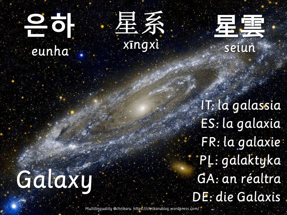 multilingual flashcards galaxy