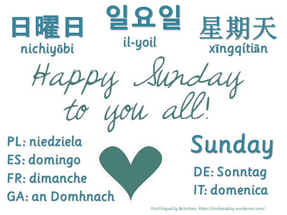 multilingual flashcards sunday