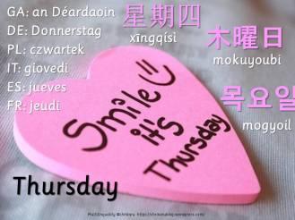 multilingual flashcards thursday