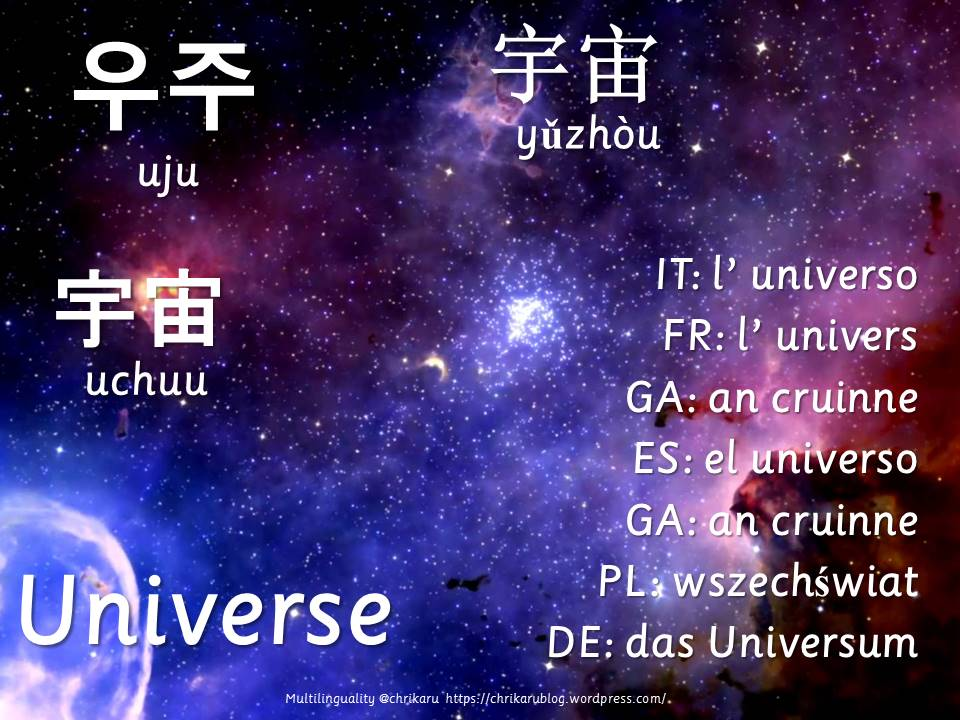 multilingual flashcards universe