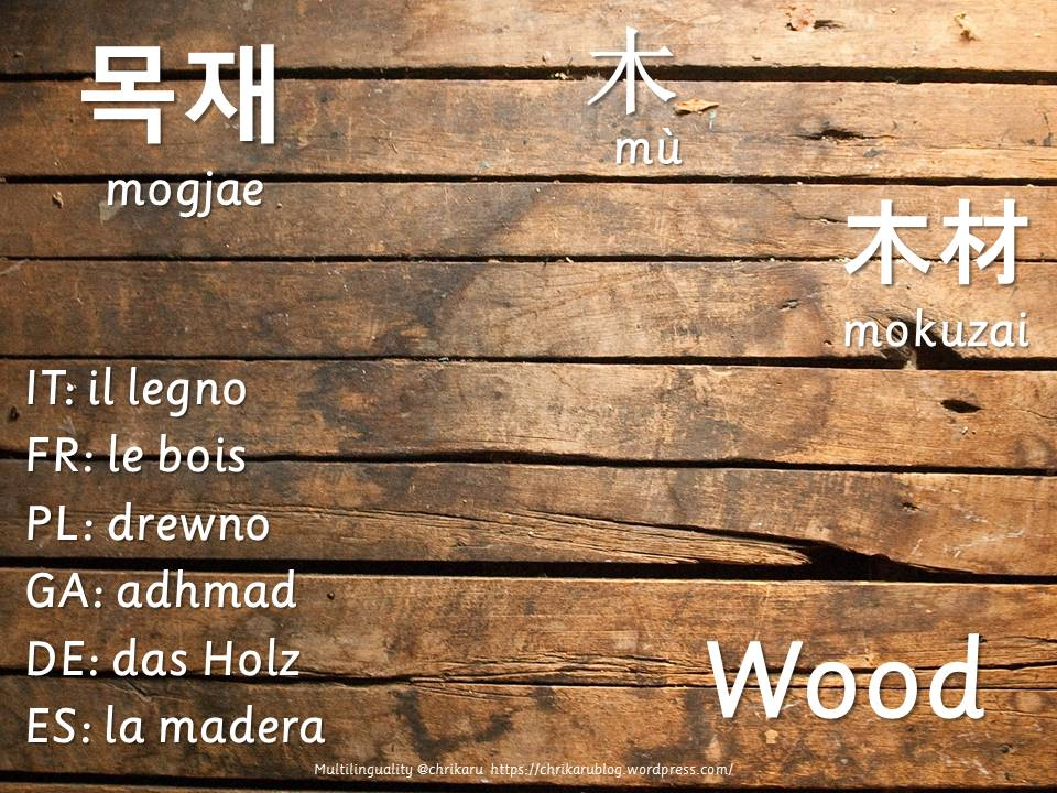 multilingual flashcards wood