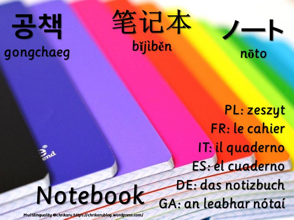 multilingual flashcards notebook