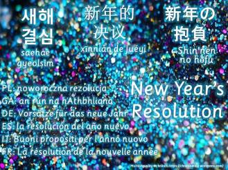 multilingual flashcards new year resolution