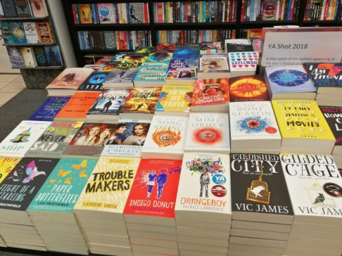 Waterstones Uxbridge had a great selection of books out for YA Shot.