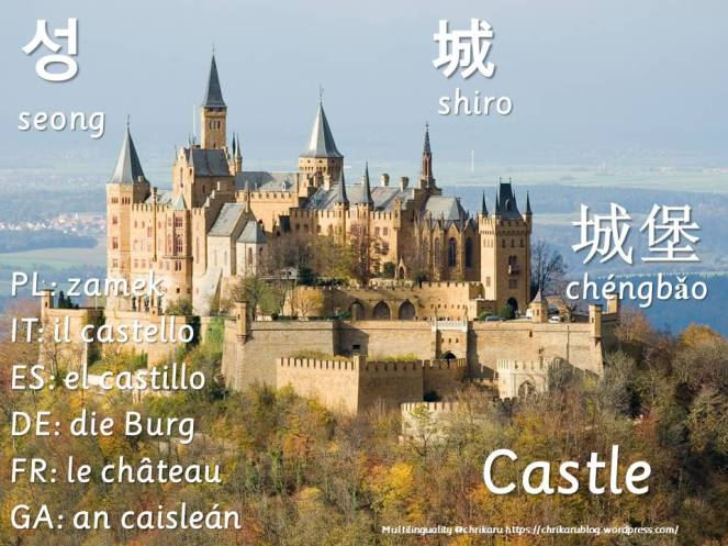 multilingual flashcards castle