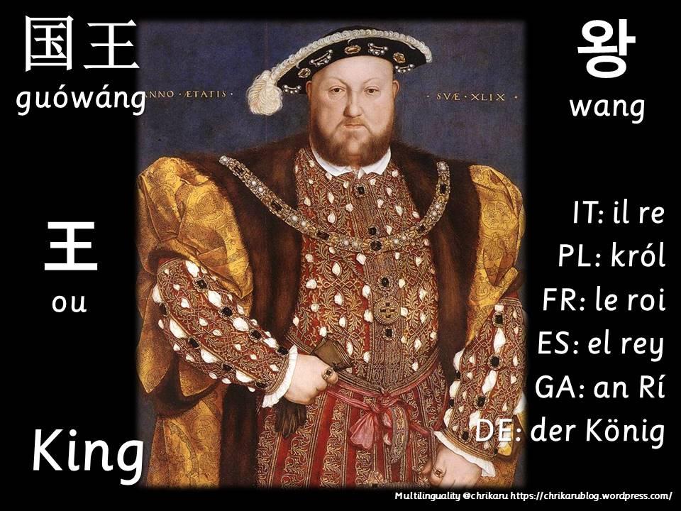 multilingual flashcards king
