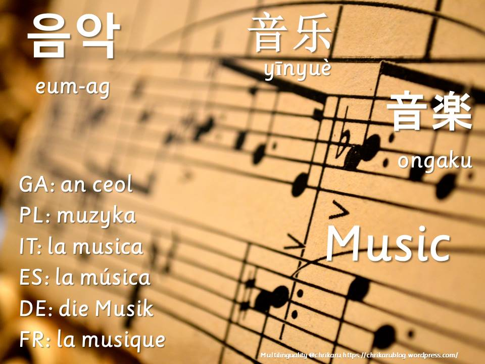 multilingual flashcards music