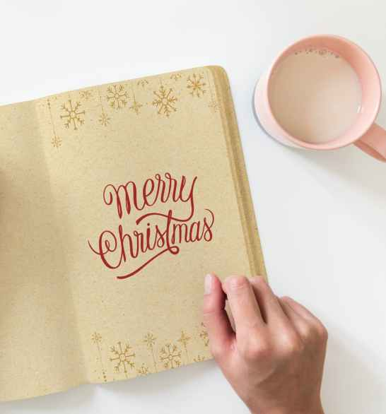 merry christmas book page