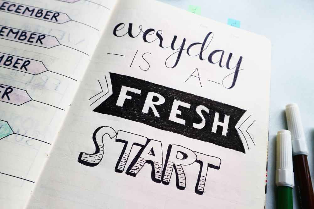 plan inspirational quotes on a planner